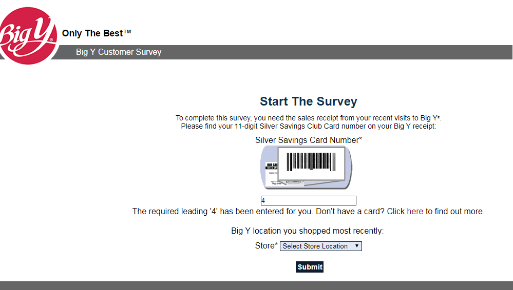 Big Y Food Customer Survey