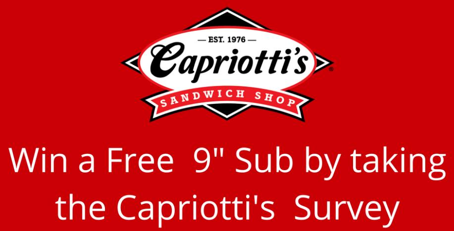 Capriotti's Survey Rewards - Capriotti's Coupons