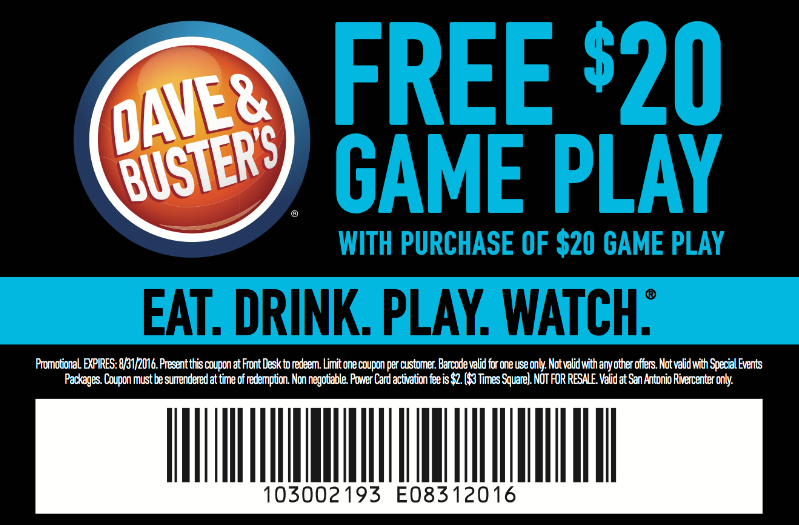 Dave and Busters Rewards