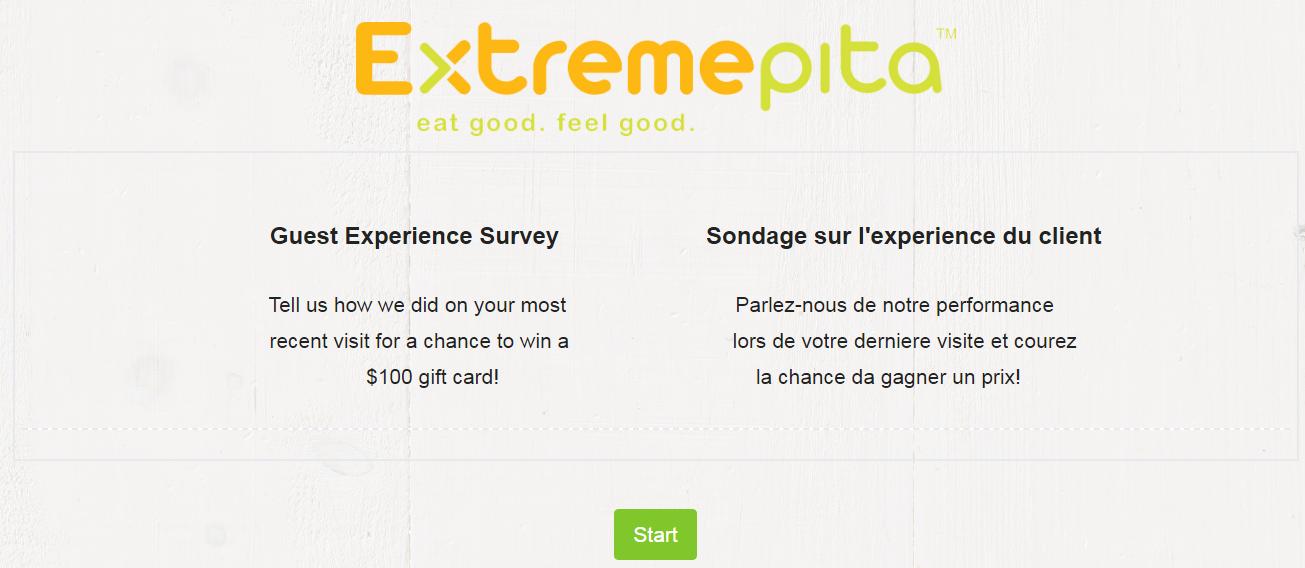 Extreme Pita Customer Survey