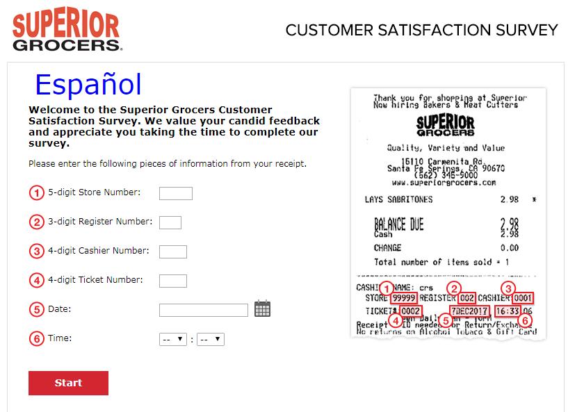Superior Grocers Guest Satisfaction Survey