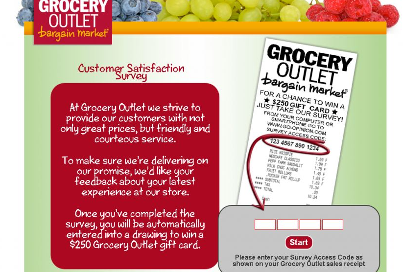Grocery Outlet Go Opinion Customer Survey