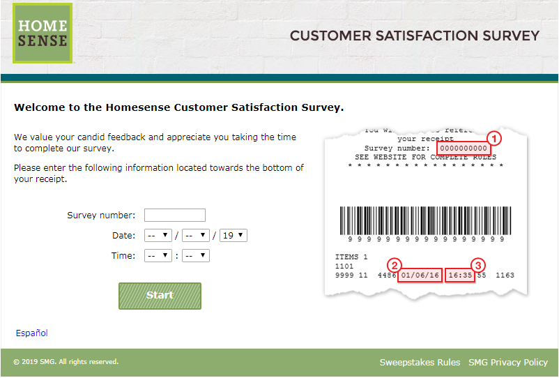 www.HomeSenseFeedback.com Survey
