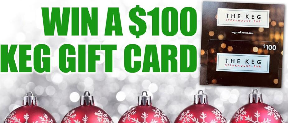 The Keg Steakhouse + Bar $100 Gift Card