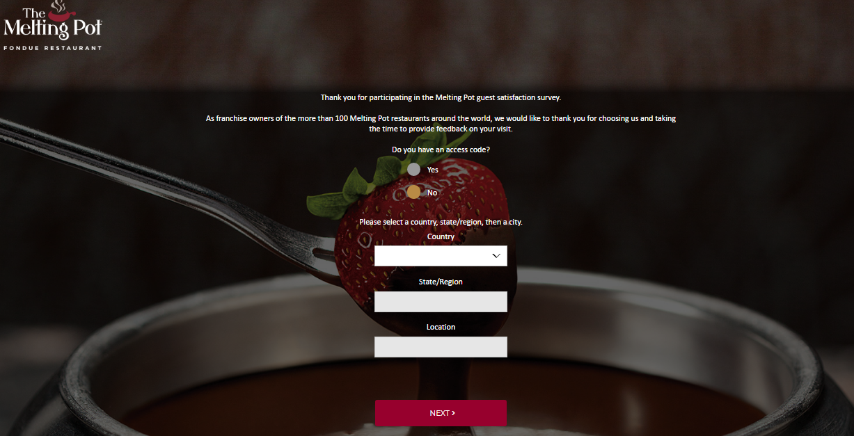 Melting Pot Fondue Guest Experience Survey