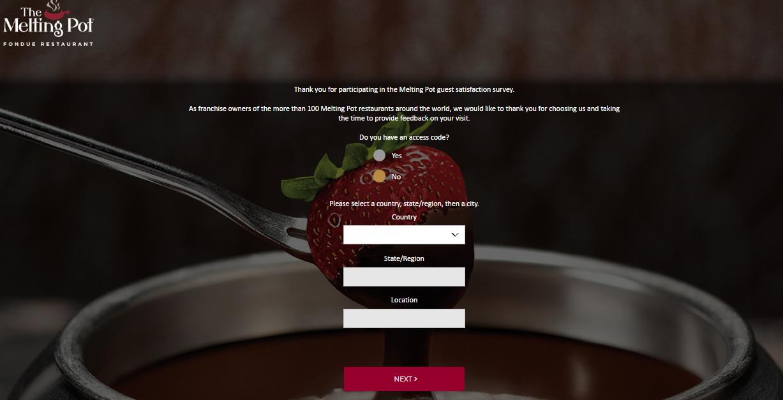 Melting Pot Fondue Guest Experience Survey