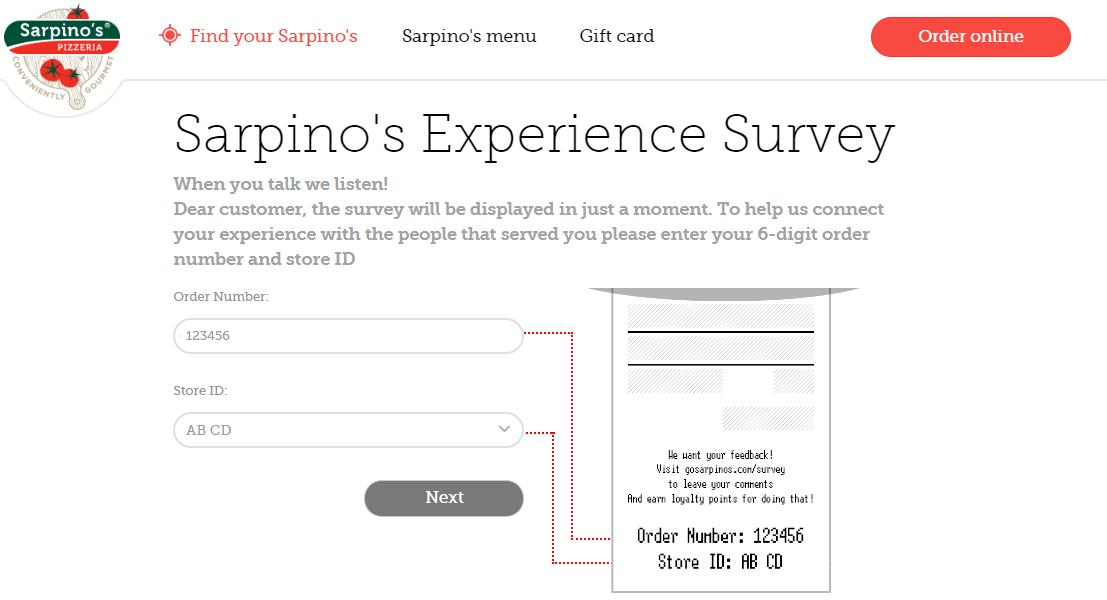 www.Gosarpinos.com/survey