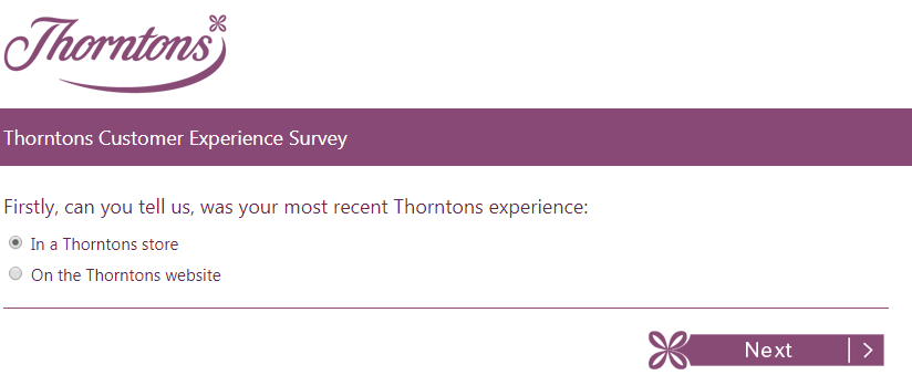 Thorntons Customer Service Survey