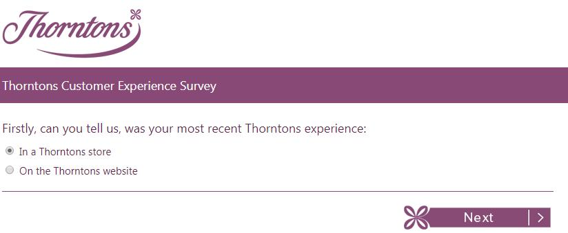 Thorntons Customer Service Survey