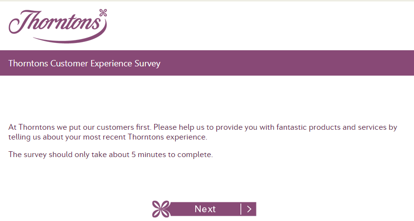 www.survey.thorntons.co.uk.