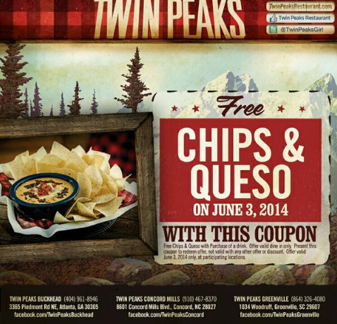Twin Peaks Rewards - Coupon Code