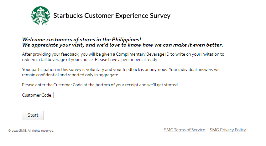 Starbucks Survey