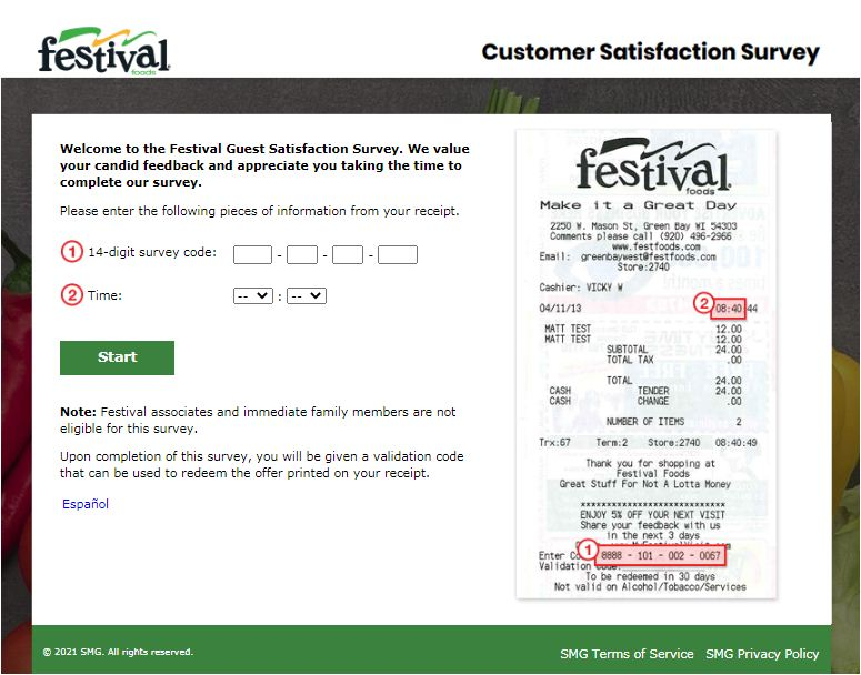 Festival Foods Guest Survey