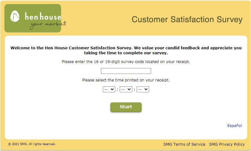 Hen House Feedback Survey